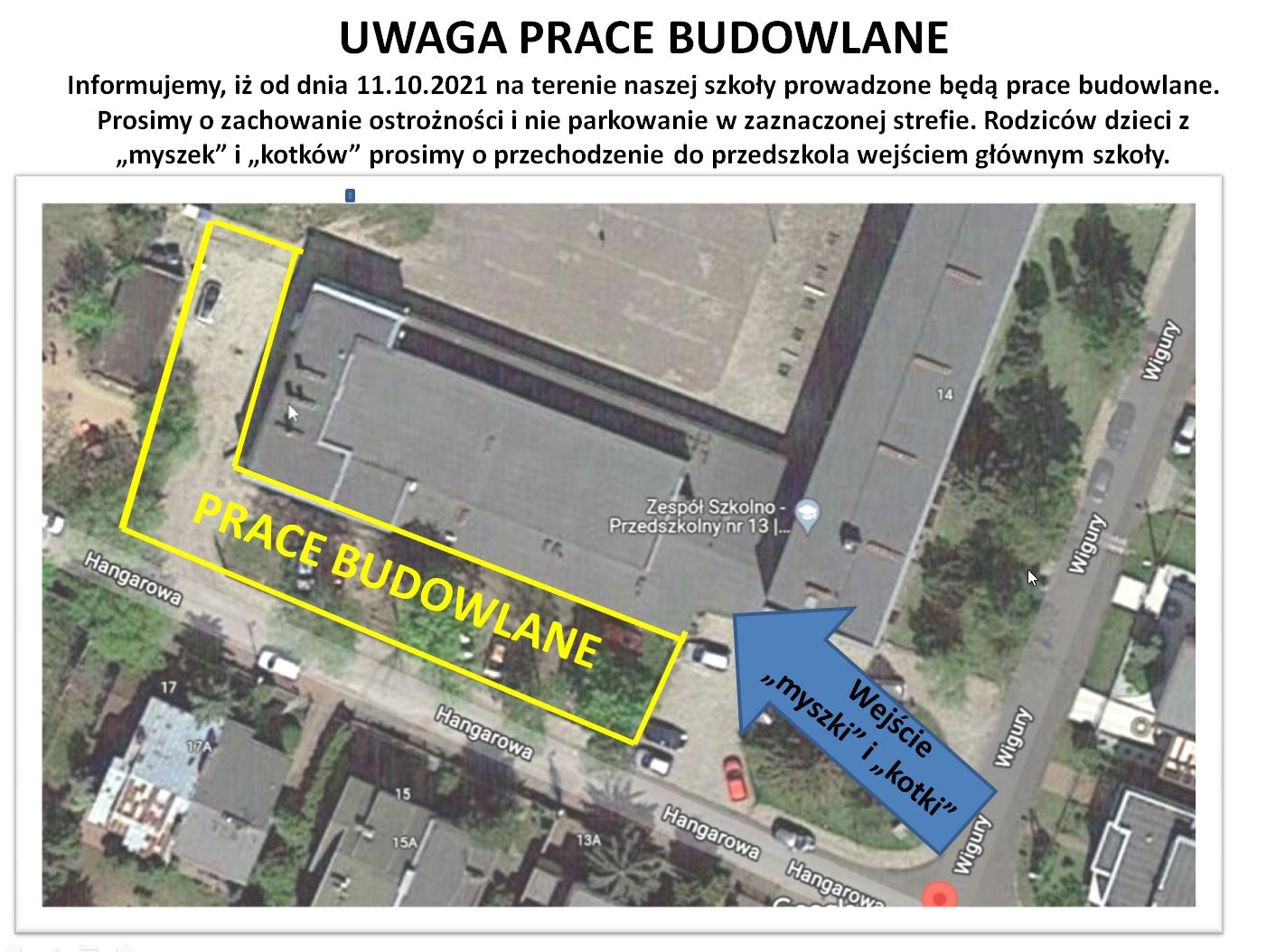Read more about the article UWAGA – prace budowlane
