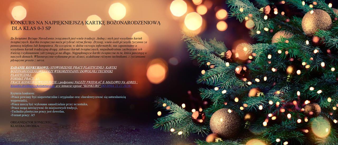 Konkurs na kartkę bożonarodzeniową