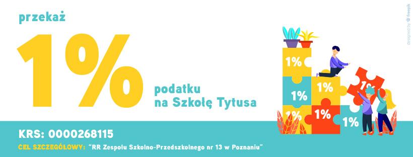 Przekaż 1% podatku na szkołe Tytusa - baner