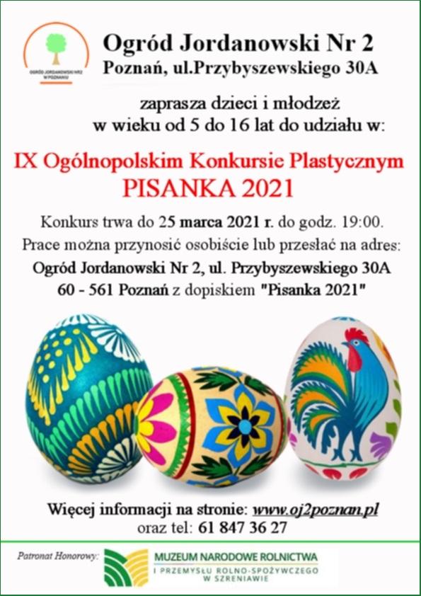 "Read more about the article IX Ogólnopolski Konkurs Plastyczny – ""PISANKA 2021"""
