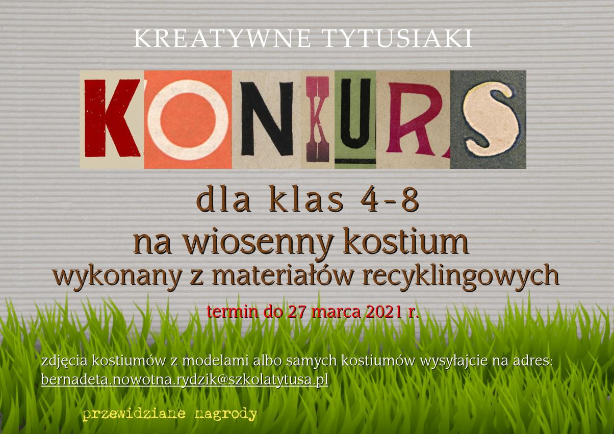 """Konkurs na """"Wiosenny Kostium"""" zostaje przedłużony do 26.04"""